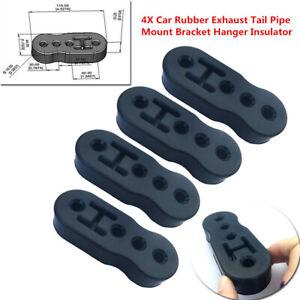 4X Car Rubber Exhaust Tail Pipe Mount Bracket Hanger Insulator Reduce Vibration