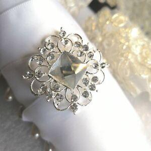 10  x DIY Diamante Diamond   Vintage Elegant Buckle for  invitation