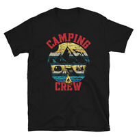 Camping Crew Funny Matching Camping Campfire Vintage Hiking Outdoor T Shirt