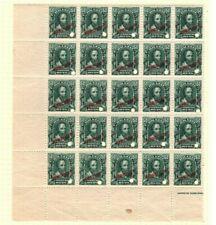 BRAZIL American Bank Note Co *SPECIMEN* 50r{25}Marginal Corner Block UM MNH MB21