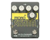 New Electro-Harmonix EHX Mono Synth Synthesizer Guitar Pedal Monosynth