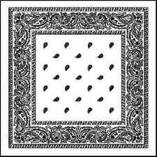 XL BANDANA Cachemira Color blanco 68.6cmcotton Super Grande pañuelo bufanda de