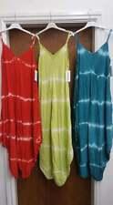 New Ladies Lagenlook Tie Dye handkerchief hem Sun Dress size 10 12 14 16 18