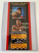 Mike Tyson vs Henry Tillman Boxing Full Ticket (1990) Caesars Palace, LV
