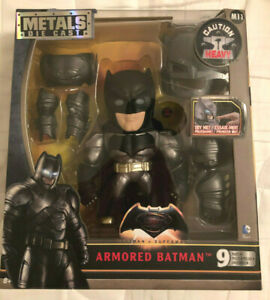 BATMAN Figure with Armor Diecast Light up Batman vs Superman Unopened