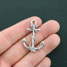 4 Large Anchor Charms Antique Silver Tone - SC1873