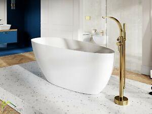 moderne freistehende Badewanne Wanne 142x62 160x70 Ablauf ClickClack Mineralguss