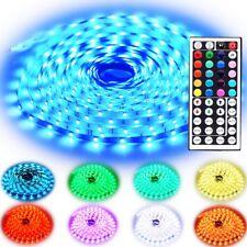 Rxment RGB LED Strip Lights with Remote 10M 32.8 Ft 5050 RGB 300LEDs Full Kit,