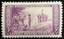 1934 3c Wisconsin Discovery, 300th Anniversary Scott 739 Mint F/VF NH