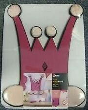 3 x NOBO Pink Princess crown pin soft notice board for girls bedroom door