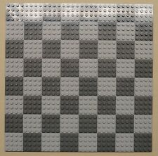 x64 NEW Lego Plates 4x4 LT Gray & DK Gray Baseplates MAKES CHESS Game Board