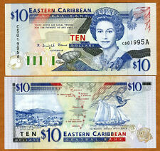 Eastern East Caribbean, $10 (1994) Antigua, P-32a, UNC