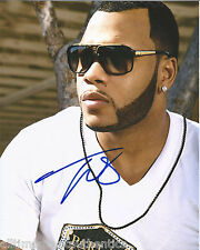 RAPPER SINGER FLO RIDA HAND SIGNED AUTHENTIC 8X10 PHOTO w/COA RIGHT ROUND
