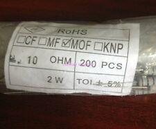 50pcs 2W 2watt 2 watt 5% Carbon Film Resistor 10 ohm