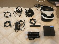 Sony PlayStation 4 VR Headset w/ Resident Evil Biohazard and controllers