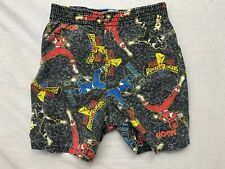 Vtg Mighty Morphin Power Rangers Youth Size 4/5 Graphic Shorts Made In Usa