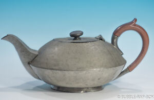 TEAPOT 1930s ART DECO POT BELLIED, MADE IN ENGLAND HAND HAMMERED ARMADA TEA POT