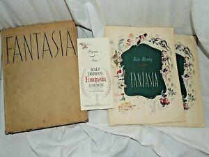 1940 Walt Disney's Fantasia by Simon & Schuster book with Programs Rare!!