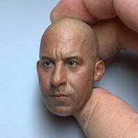 """1/6 Scale Vin Diesel Male Head Sculpt Carved Model for 12"""" Action Figure Body"""