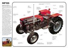 Vintage Massey Ferguson Tractor 135 CUTAWAY SALES BROCHURE/POSTER ADVERT A3