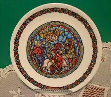 Decorative Plate 1979 D'Arceau Limoges Christmas Plate Vitrail 5 Af426