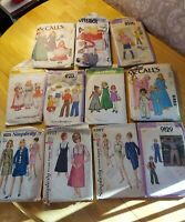 Vintage 60's Lot of 11 Sewing Patterns SimplicityKids Teens