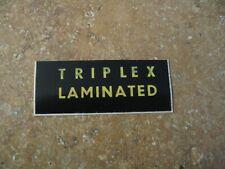 Triplex Windshield Decal NEW MG Triumph Jaguar Healey