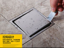150mm Stainless Steel Invisible Floor Drain Stop Odor Pest Waste shower Drain