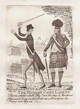 JOHN KAY Original Antique Etching. The Hon. William Pitt and Henry Dundas, 1798