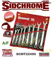 NEW SIDCHROME TORQUEPLUS 8-PC A/F RATCHETING RING & SPANNER SET SCMT22499 RP$302