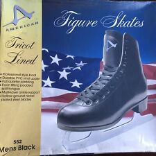 American Figure Skates Men's Black Model 552 Tricot Lined Size 5