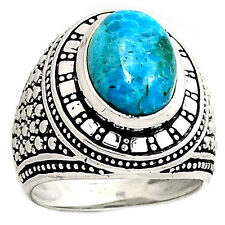 12g Sleeping Beauty Turquoise 925 Silver Men's Ring Jewelry s.9 SR216880