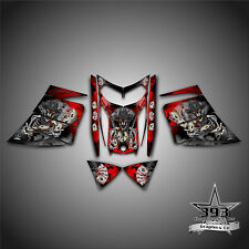SKI-DOO REV MXZ SNOWMOBILE SLED WRAP GRAPHICS DECAL 03-07 COWBOY OUTLAW RED