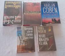 Lot of 5 Murder Mystery Hardcover Books Harlan Coben Mary Higgins Clark +