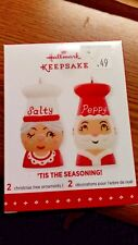 "HALLMARK KEEPSAKE CHRISTMAS ORNAMENT ""SALTY & PEPPY"" 2015 NEW IN BOX"