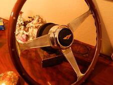 "Bentley Corniche 1971- 1989 Wood Steering Wheel 15"" engraved + Rivets spokes NEW"