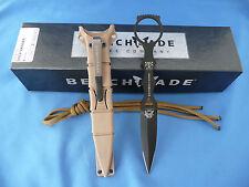 Benchmade 176BKSN SOCP Dagger Knife Greg Thompson Design 440C USA Sand