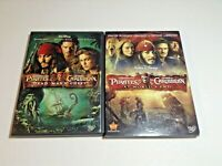 2 Pirates of the Caribbean DVDs At World's End & Dead Man's Chest Walt Disney