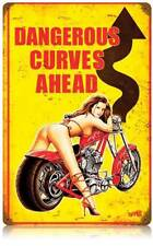 Biker Babe Pin Up Girl Metal Sign Man Cave Garage Club Shop Legend Wear LWT030