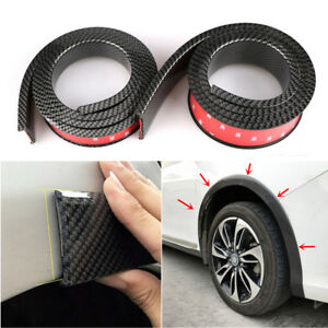 "2pcs 59"" Black Universal Car Fender Flares Wheel Moulding Protector Strips 45mm"