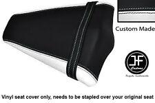 WHITE BLACK VINYL CUSTOM FITS HONDA CB 1000 R 08-13 REAR PILLION SEAT COVER ONLY
