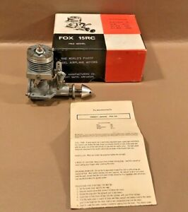 Excellent In Box Fox .15 Radio Control Model Airplane Engine