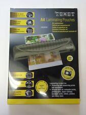 100 A4 Texet Laminator Pouches 150 micron Gloss Laminating Sheets Laminates LMA4