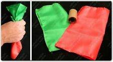"""COLOUR CHANGING SILK HANKY 6"""" STAGE CLOSE UP MAGIC TRICK PROP RED GREEN DYE TUBE"""