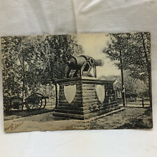 Vtg Postcard Old Gun in Fort Wayne Indiana Park Scene 1906