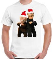 The Muppets T-Shirt Xmas Edition Grumpy Old Men Mens Funny Man Statler & Waldorf