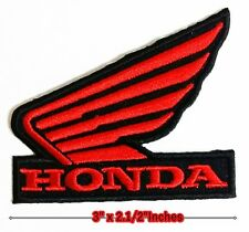 HONDA RED/Black Wing Motorcycle Logo iron , sewing,patches on clothes