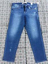NWT Abercrombie Womens Ankle Jeans With Decorative Paint Spots Paint Sz 6 W 28