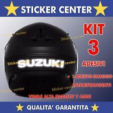 KIT 3 ADESIVI + OMAGGIO SUZUKI GSX R 600 750 1000 CASCO MOTO RIFLETTENTI