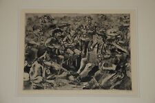 Group of Musicians Etching '86 Illegibly Signed
